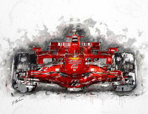 Cool Car Digital Art - Ferrari F1 by Gary Bodnar