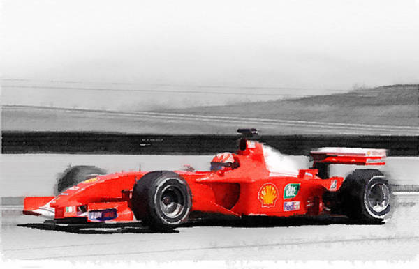 Ferrari Painting - Ferrari F1 Laguna Seca Watercolor by Naxart Studio