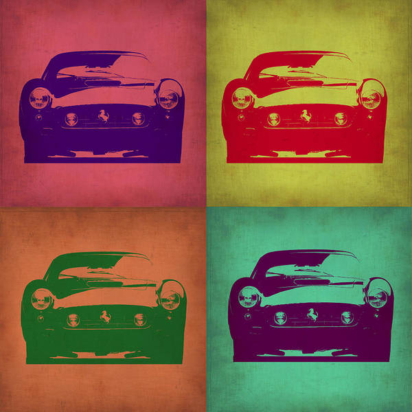 Ferrari Wall Art - Painting - Ferrari Front Pop Art 1 by Naxart Studio