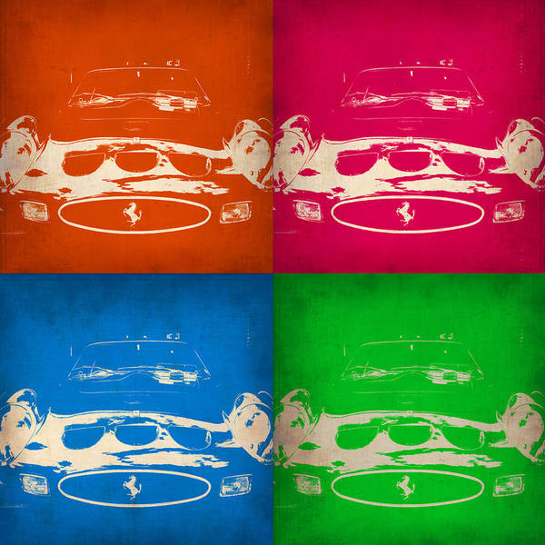 Ferrari Wall Art - Painting - Ferrari Front Pop Art 4 by Naxart Studio
