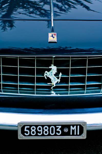Photograph - Ferrari Grille Emblem by Jill Reger