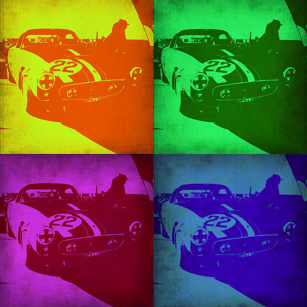 Ferrari Wall Art - Painting - Ferrari Gto Pop Art 1 by Naxart Studio