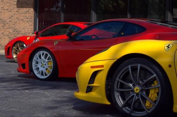 Photograph - Ferrari Line Up by Tim McCullough