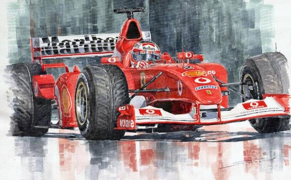 Rubens Wall Art - Painting - 2002 Ferrari Marlboro F 2002 Ferrari 051 Rubens Borrichello by Yuriy Shevchuk
