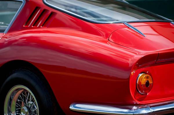 Tail Light Photograph - Ferrari Taillight -0039c by Jill Reger