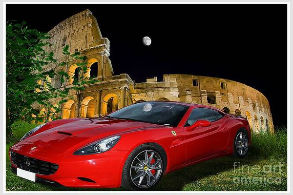 Prancing Horse Photograph - Ferrari Under Colosseum by Stefano Senise