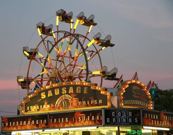 Wall Art - Photograph - Ferris Wheel And Fair Food by Dan Sproul