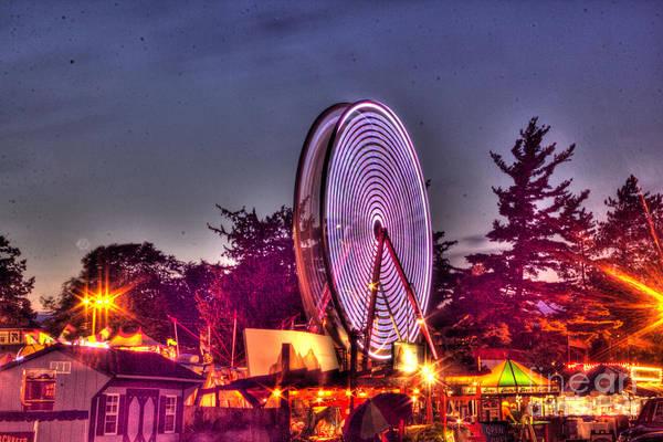 Photograph - Ferris Wheel At The Fair by Jim Lepard