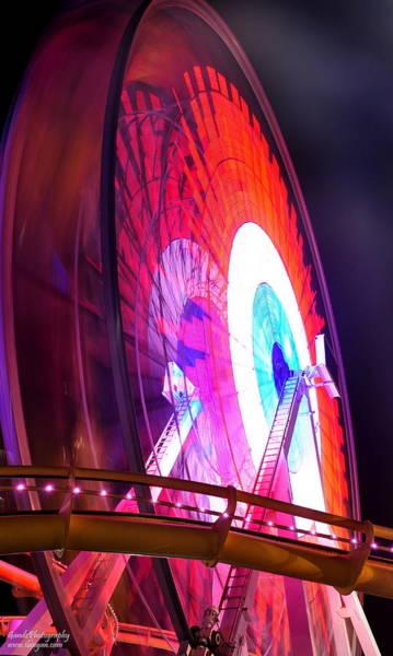 Digital Art - Ferris Wheel by Gandz Photography