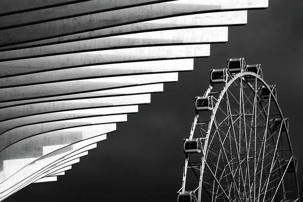 Urban Photograph - Ferris Wheel by Hans-wolfgang Hawerkamp