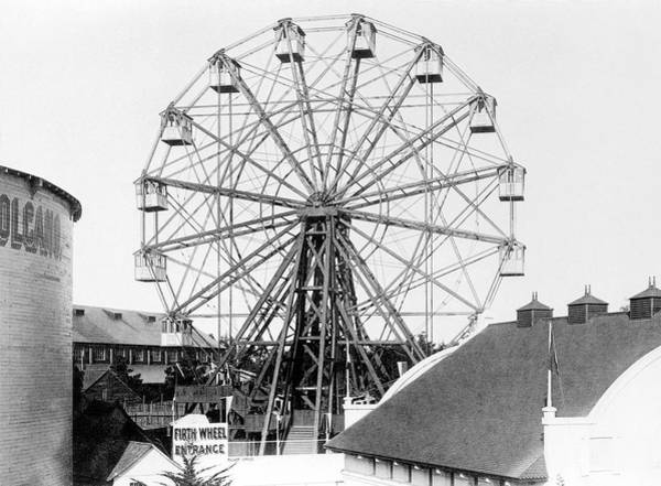 1894 Photograph - Ferris Wheel by Library Of Congress/science Photo Library