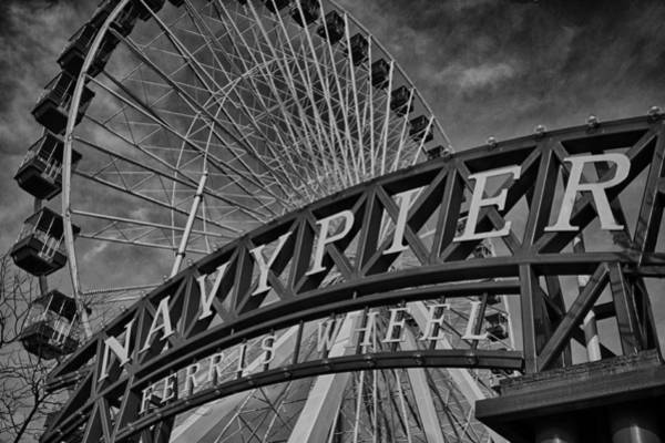 Ferris Wheel Photograph - Ferris Wheel Navy Pier by Mike Burgquist
