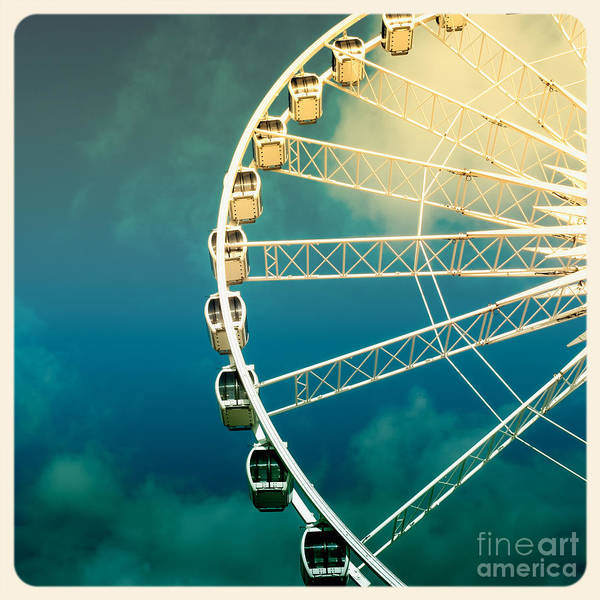 Wall Art - Photograph - Ferris Wheel Old Photo by Jane Rix