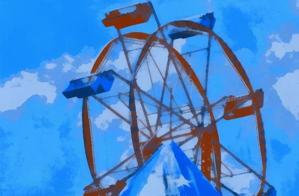 County Fair Painting - Ferris Wheel Pop Art Poster by Dan Sproul