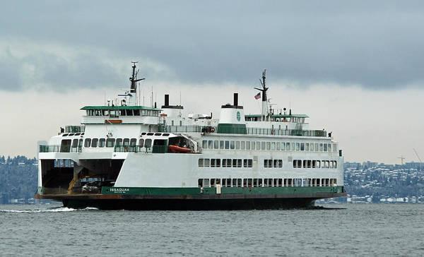 Photograph - Ferry Issaquah by E Faithe Lester