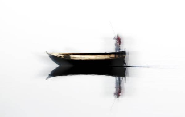 Ferry Photograph - Ferryman by Hans-wolfgang Hawerkamp