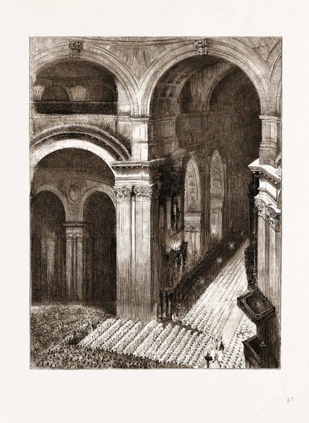 Choral Wall Art - Drawing - Festival Of The London Gregorian Choral Association In St by Litz Collection