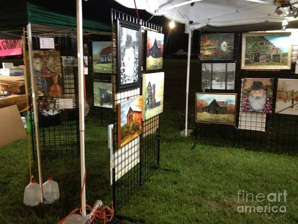 Painting - Festival Setup One by Jan Dappen
