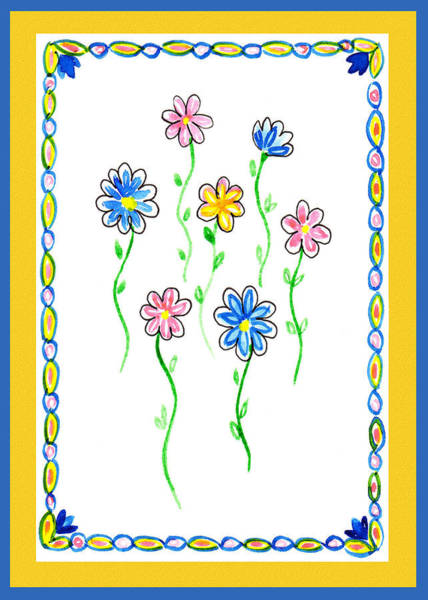 Painting - Festive Flowers Iv by Irina Sztukowski