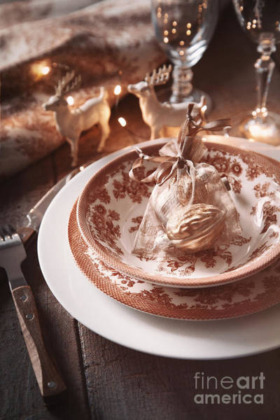 Photograph - Festive Place Setting For The Holidays by Sandra Cunningham