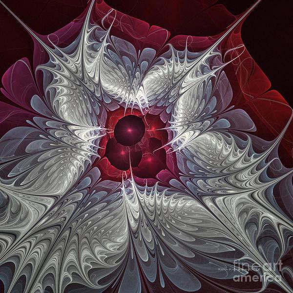 Fractal Design Digital Art - Festive Star by Karin Kuhlmann