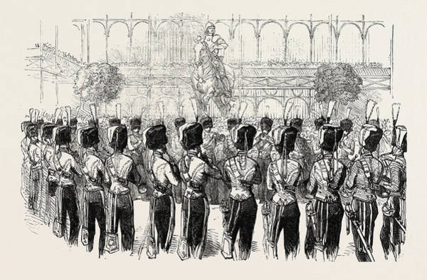 Wall Art - Drawing - Fete At The Crystal Palace The Guides Band 1854 by English School