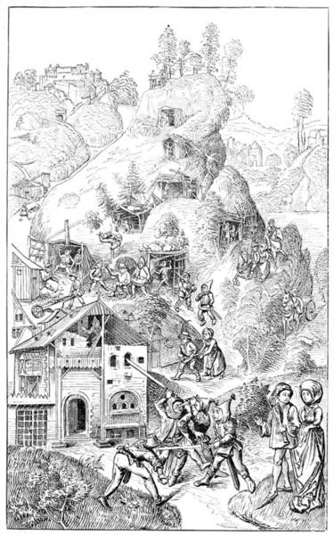 Lead Mine Wall Art - Photograph - Feudal Mine, 15th Century by Science Photo Library