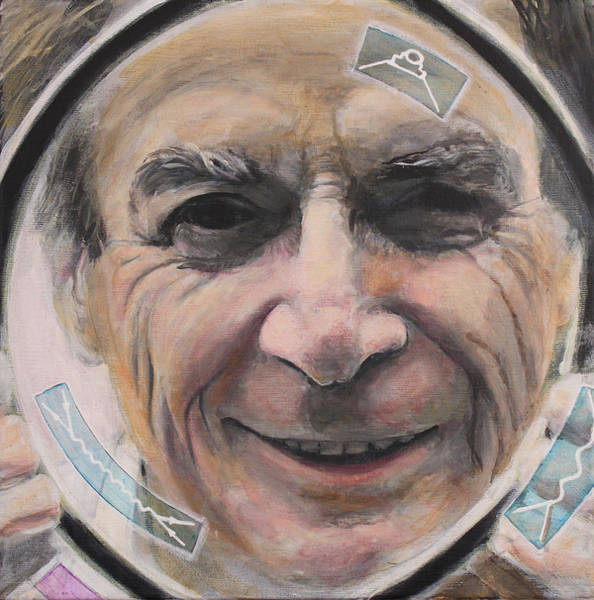Richard Painting - Feynman In Focus by Simon Kregar
