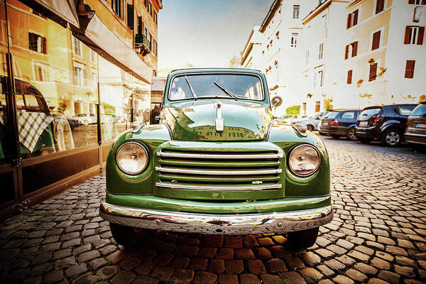 Editorial Photograph - Fiat 500 C Topolina Vintage Classic Car by Piola666
