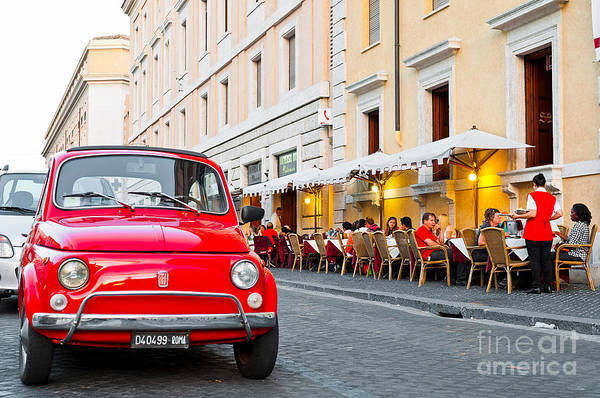 Wall Art - Photograph - Fiat 500 In Rome by Luis Alvarenga