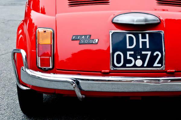 Photograph - Fiat 500l Taillight Emblem by Jill Reger