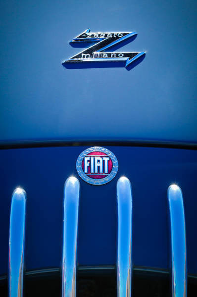 Photograph - Fiat 750 Mm Zagato Panoramica Coupe Grille Emblem by Jill Reger