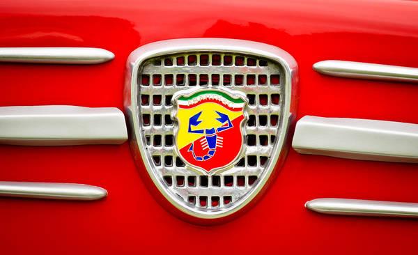 Auto Show Photograph - Fiat Emblem by Jill Reger