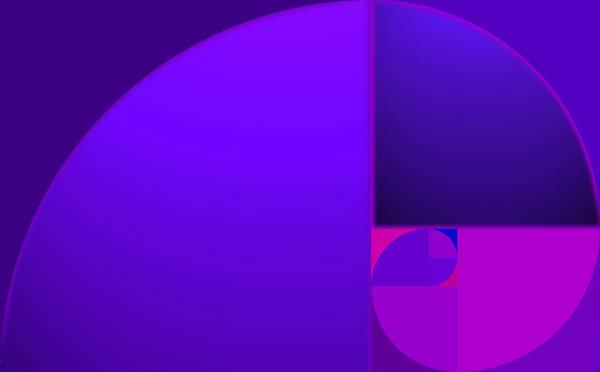 Fibonacci Blue Art Print