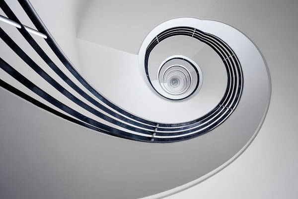 Stairwell Wall Art - Photograph - Fibonacci by Max Zimmermann