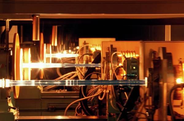 Fibre Optics Manufacturing Art Print