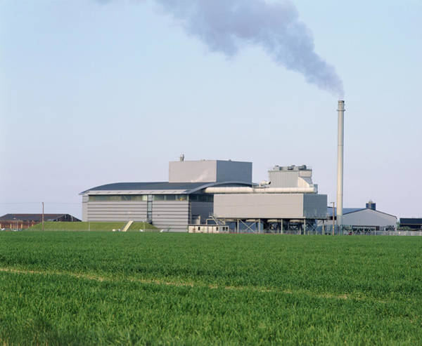 Poultry Photograph - Fibroplant Power Station by Martin Bond/science Photo Library