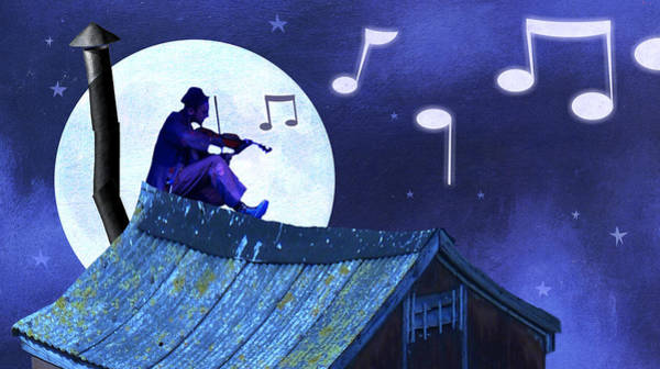 Jewish Music Wall Art - Digital Art - Fiddler On The Roof by Steve Dininno