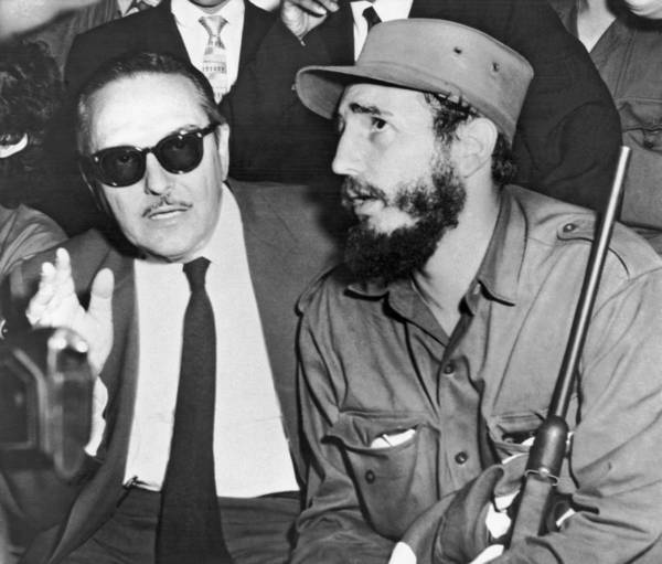 Cuba Photograph - Fidel Castro And Urrutia by Underwood Archives