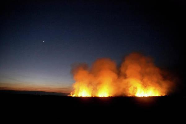 Wall Art - Photograph - Field Fire. Nchalo, Shire Walley by Kennet Havgaard