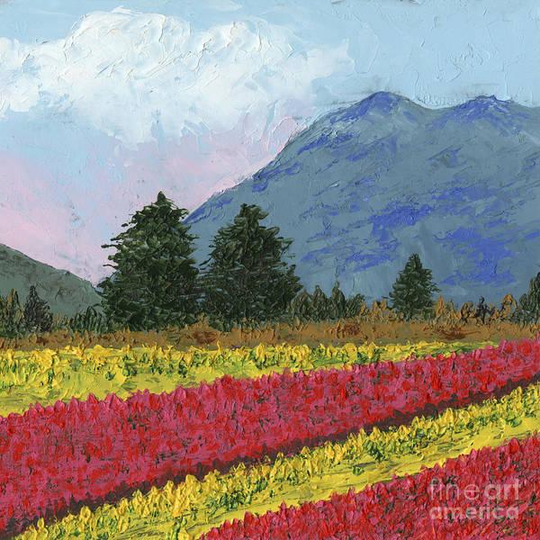 Skagit Valley Painting - Field In Bloom by Ginny Neece