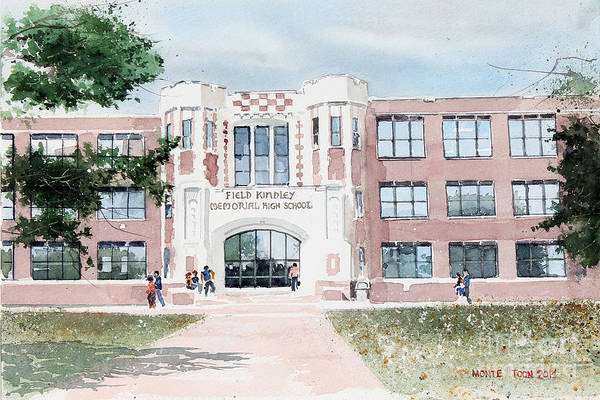 Painting - Field Kindley Memorial High School by Monte Toon