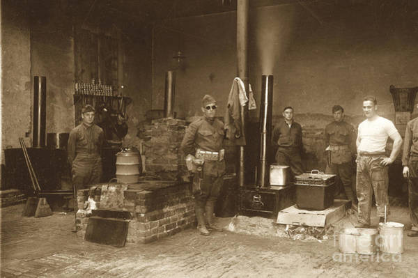 Photograph - Field Kitchen World War One   France Circa 1918 by California Views Archives Mr Pat Hathaway Archives