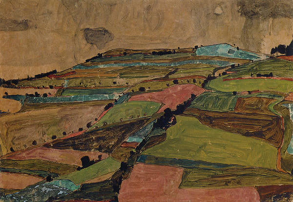Painting - Field Landscape. by Celestial Images