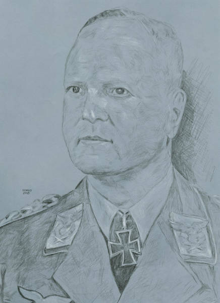 Wall Art - Drawing - Field Marshal Milch by Dennis Larson