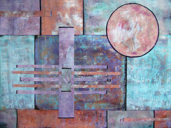 Space Station Mixed Media - Field Navigation by Maria Huntley