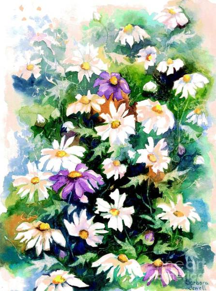 Wall Art - Painting - Field Of Daisies by Barbara Jewell