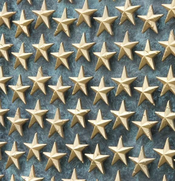 Field Of Golden Stars Art Print by Smanter