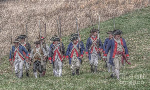 Marching Digital Art - Field Of Honor American Revolution by Randy Steele
