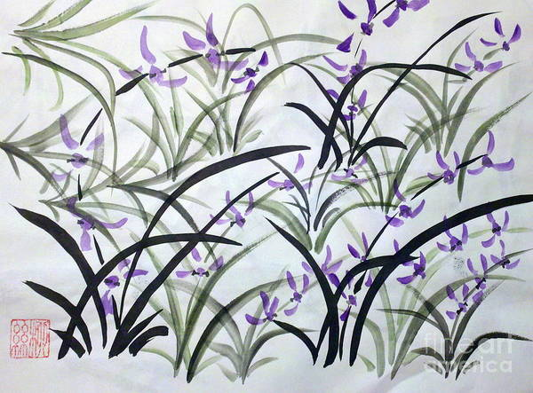 Painting - Field Of Orchids by Margaret Welsh Willowsilk